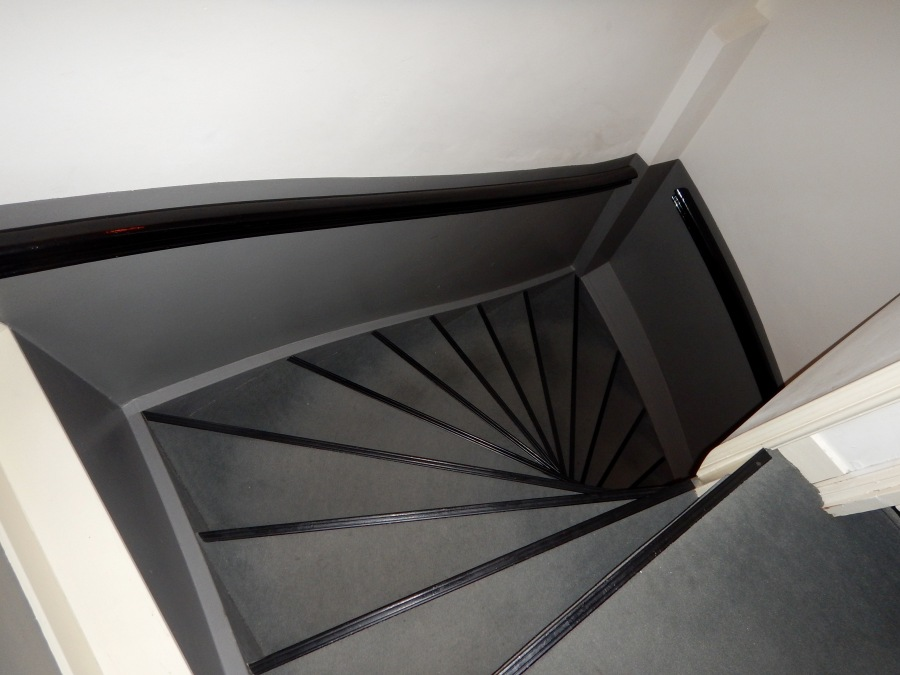 A look down the staircase (3 floors up)