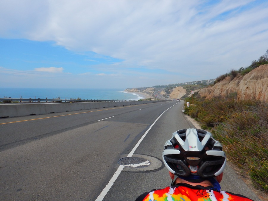 Heading north on PCH and enjoying the view
