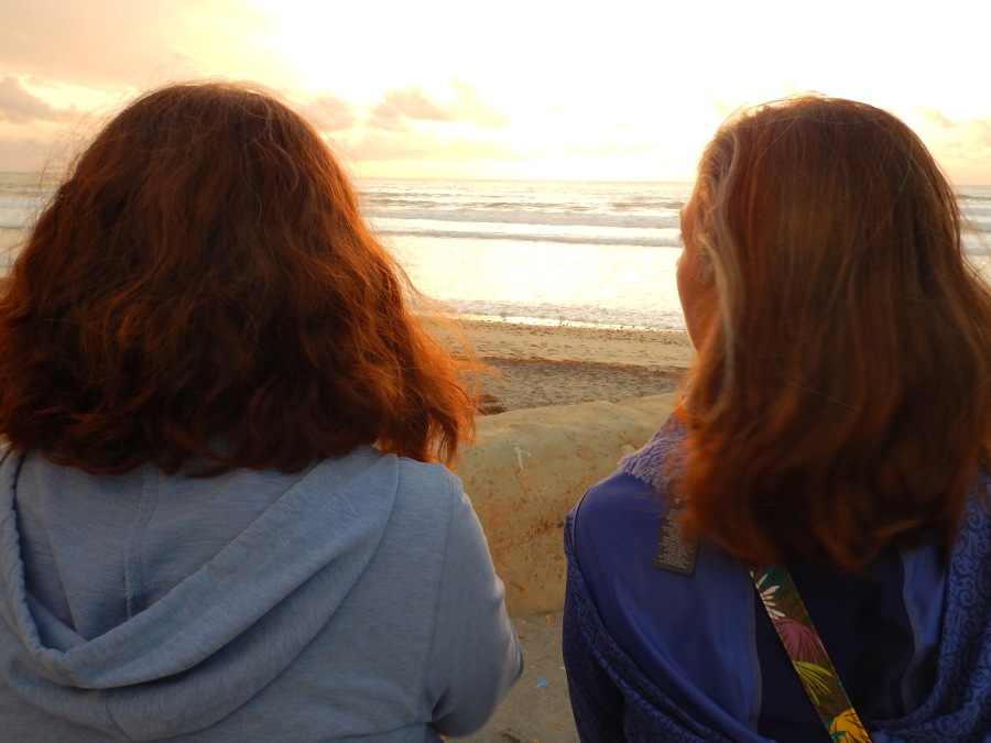 Nancy and Eve enjoying the view