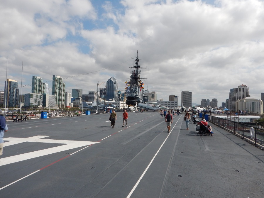 on the flight deck