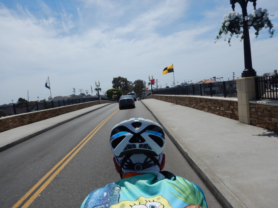 blue skies and puffy clouds heading onto Balboa