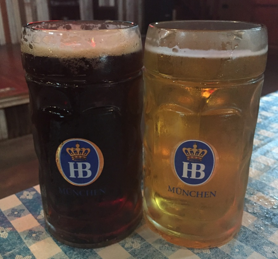 at the biergarten, go big - or go home!