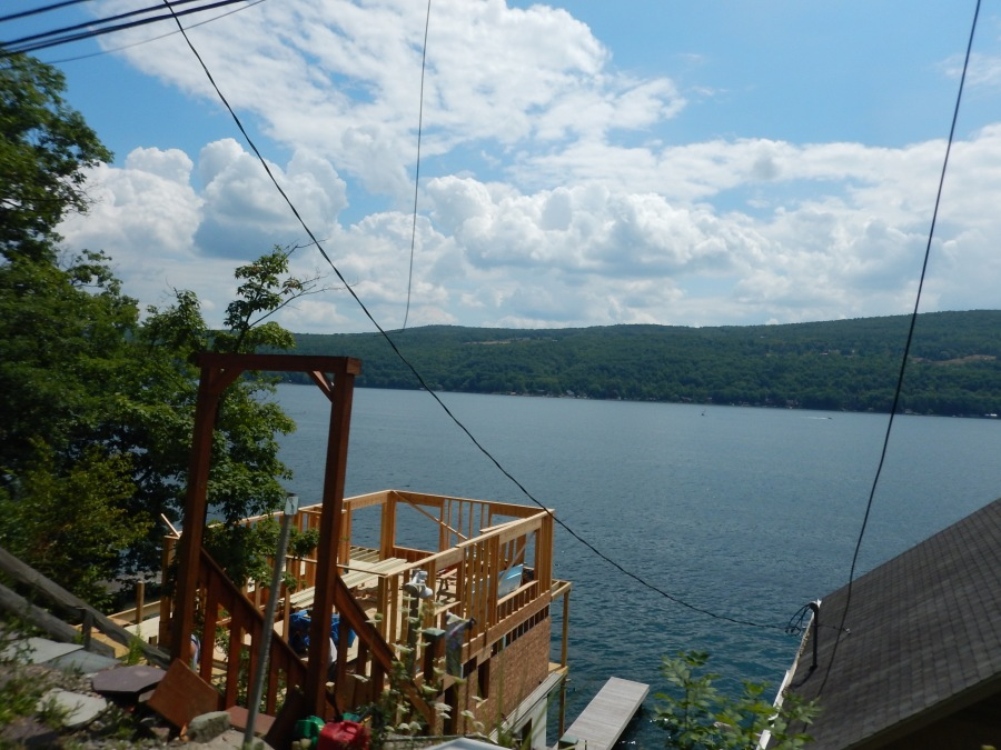 a view of lake keuka