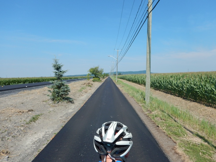 we enjoy our own personal bike path and roadway