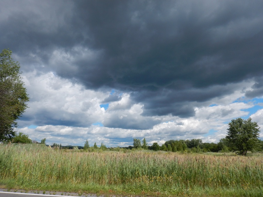 this cloud didn't look too friendly, but we finished our ride before the rain came