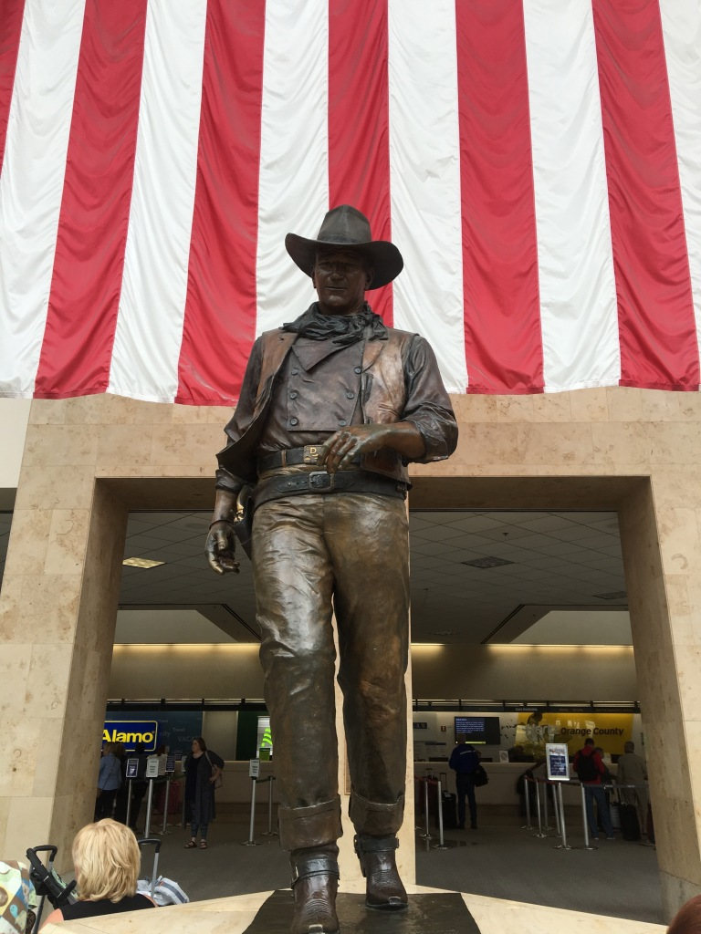 "John Wayne at ""his"" airport"