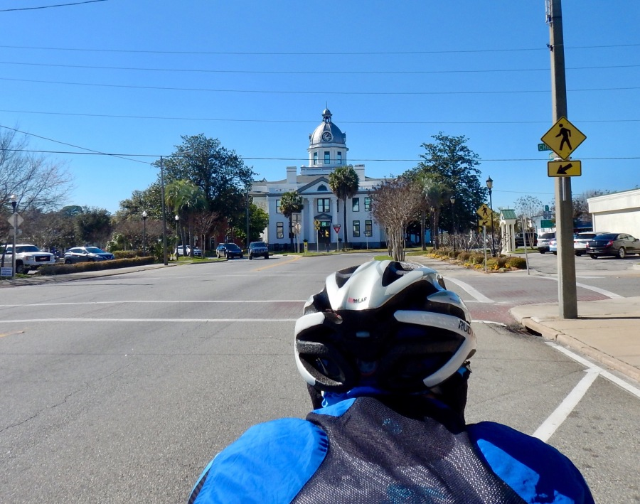 Approaching the Courthouse in Monticello, FL.