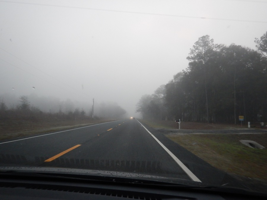Heavy fog greeted us on the morning of the Sweetheart ride.