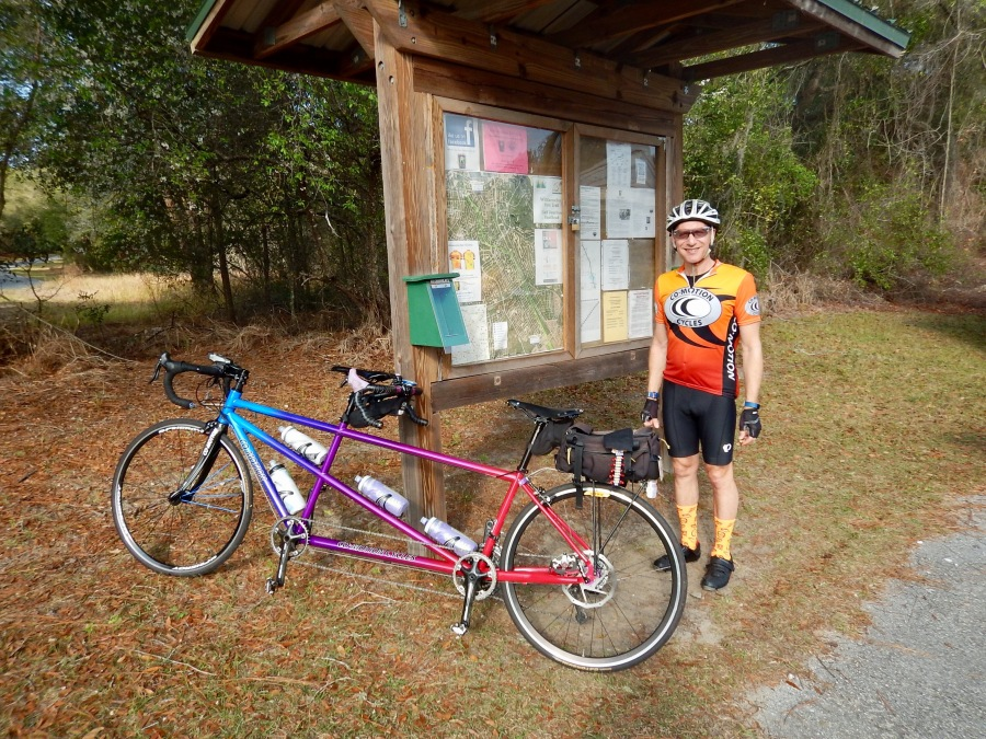 Getting ready to ride the Withlacoochee Trail.