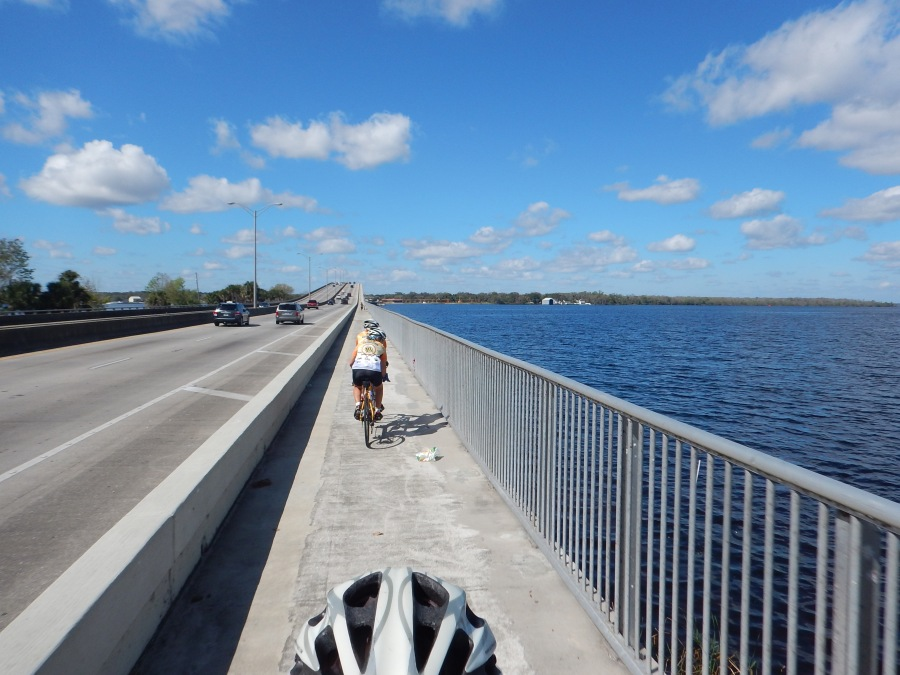 Climbing over the St. Johns River.
