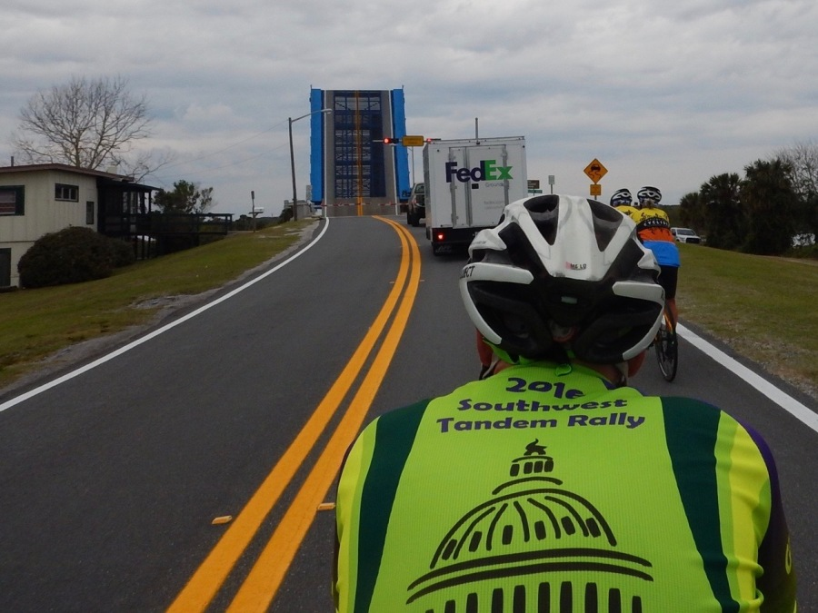 Ride pause for drawbridge over the Halifax River.
