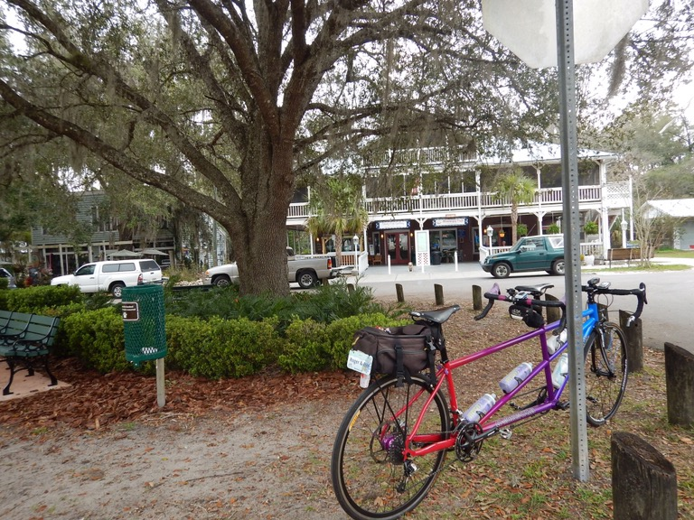 We start the ride in the quaint town of Micanopy.